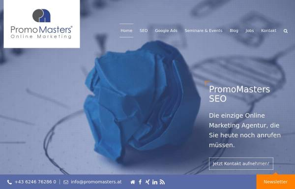 Vorschau von www.promomasters.at, Michael Kohlfürst, PromoMasters