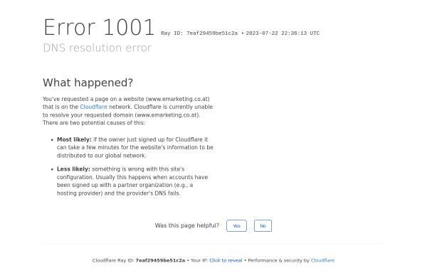 Vorschau von www.emarketing.co.at, Reichl und Partner eMarketing GmbH