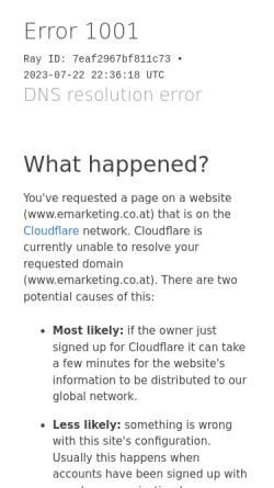 Vorschau der mobilen Webseite www.emarketing.co.at, Reichl und Partner eMarketing GmbH