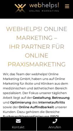 Vorschau der mobilen Webseite webhelps.de, Webhelps! Online Marketing GmbH
