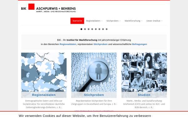 Vorschau von www.bik-gmbh.de, BIK Aschpurwis und Behrens GmbH
