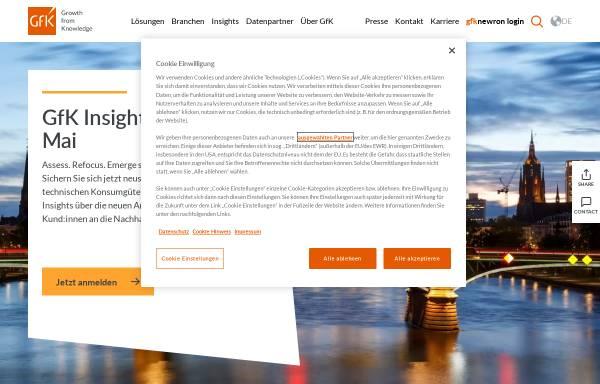 Vorschau von www.gfk.com, GfK Aktiengesellschaft