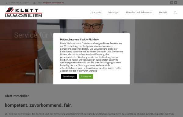 Vorschau von www.klett-marketing.de, Marketingagentur Klett