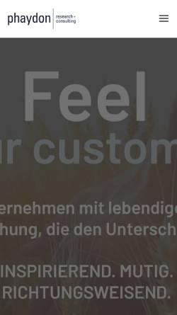 Vorschau der mobilen Webseite www.phaydon.de, phaydon | research+consulting GmbH & Co. KG
