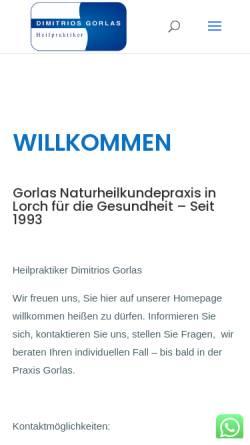 Vorschau der mobilen Webseite www.gorlas.de, Dimitrios Gorlas