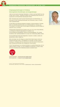Vorschau der mobilen Webseite endlich-ohne-schmerzen.de, Josef Lutz - Körperorientierte Psychotherapie und Schmerzbehandlung