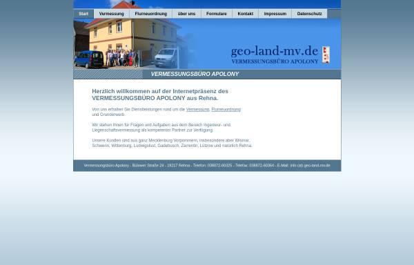 Vorschau von www.geo-land-mv.de, Apolony, Dieter