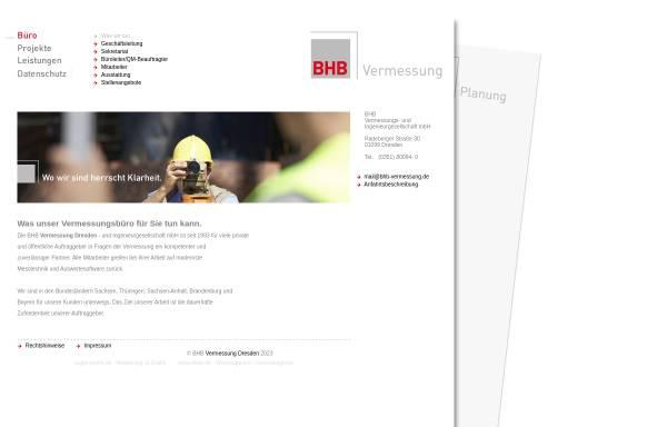 Vorschau von www.bhb-vermessung.de, BHB Vermessungs- und Ingenieurgesellschaft mbH