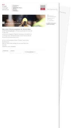 Vorschau der mobilen Webseite www.bhb-vermessung.de, BHB Vermessungs- und Ingenieurgesellschaft mbH