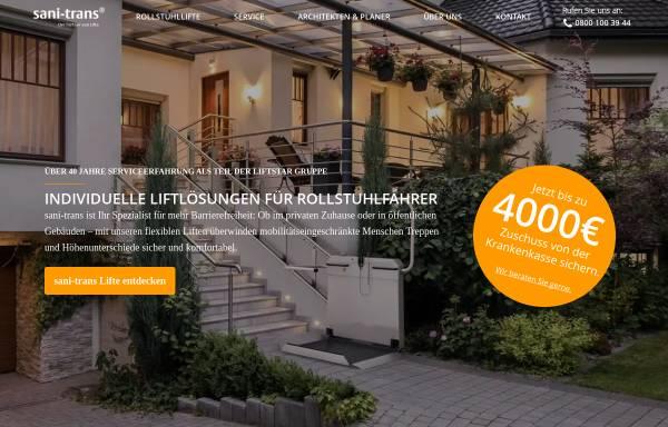 Vorschau von www.sani-trans.de, Sani-trans GmbH