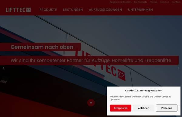 Vorschau von www.lifttec.de, LiftTec GmbH