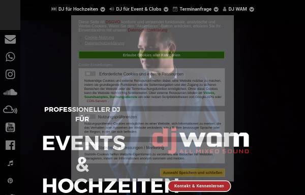 Vorschau von www.djwam.de, DJ WAM