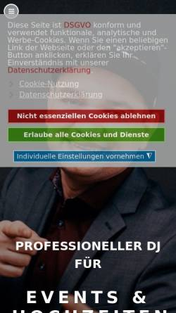 Vorschau der mobilen Webseite www.djwam.de, DJ WAM