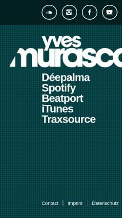 Vorschau der mobilen Webseite www.murasca.com, DJ Yves Rock