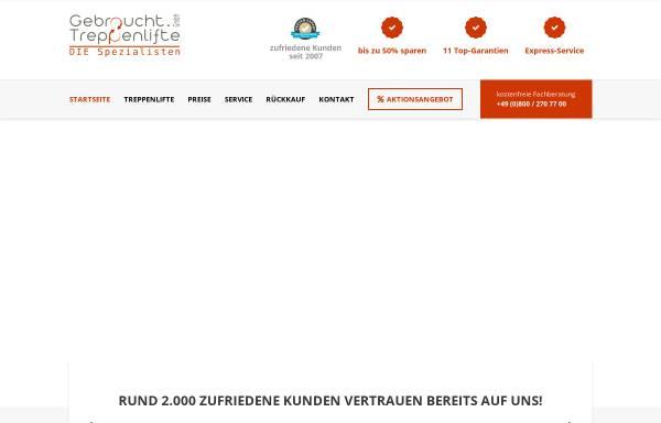 Vorschau von www.gebraucht-treppenlifte.de, Gebraucht Treppenlifte 24 GmbH