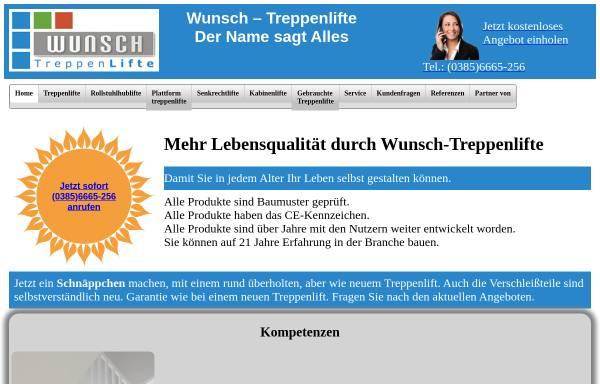 Vorschau von wunsch-treppenlifte.de, Wunsch-Treppenlifte, Inh. Dipl.-Ing. Klaus-Dieter Wunsch