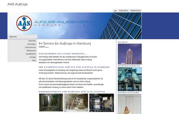 Vorschau von www.aas-aufzuege.com, AAS Aufzugs-Anlagen-Service GmbH