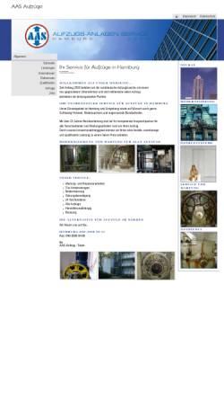 Vorschau der mobilen Webseite www.aas-aufzuege.com, AAS Aufzugs-Anlagen-Service GmbH