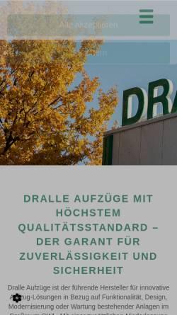 Vorschau der mobilen Webseite www.dralle-aufzuege.de, Dralle Aufzüge