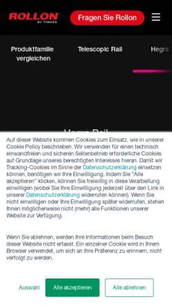 Vorschau der mobilen Webseite www.hegra-linear.de, Hegra Linear GmbH