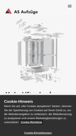 Vorschau der mobilen Webseite www.gtasolutions.ch, Lift-Service GTF Solutions AG