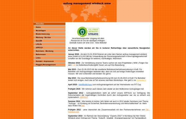 Vorschau von www.aufzug-management.com, Stefan Windeck - aufzug management windeck amw