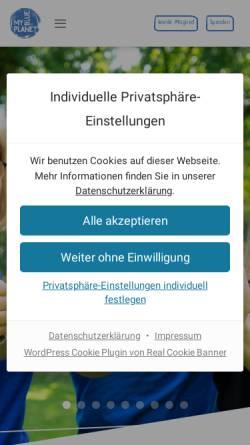 Vorschau der mobilen Webseite www.myblueplanet.ch, MyBluePlanet: Initiative gegen den Klimawandel