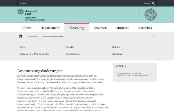 Vorschau von humgeo.unibas.ch, Universität Basel: Humangeographisches Institut