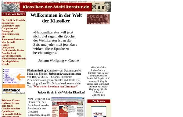 Vorschau von www.klassiker-der-weltliteratur.de, Klassiker-der-Weltliteratur.de