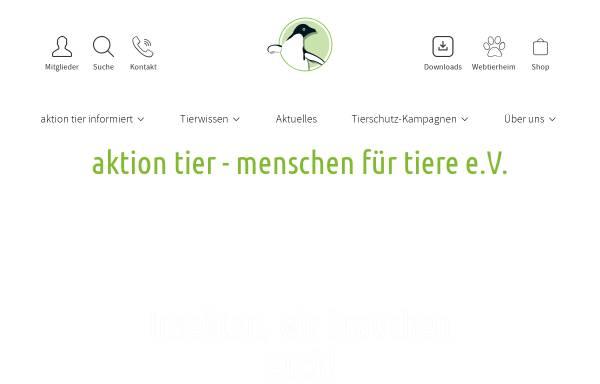 Vorschau von www.aktiontier.org, Aktion tier