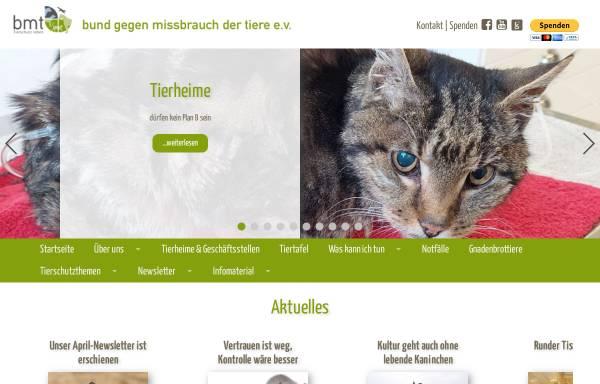 Vorschau von bmt-tierschutz.bmtev.de, Bund gegen Mißbrauch der Tiere e. V.