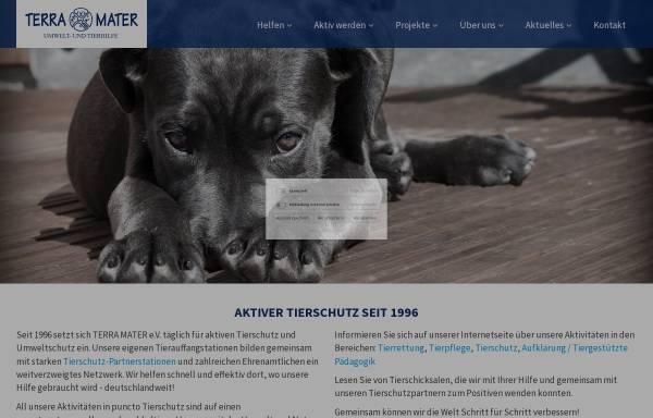 Vorschau von www.terra-mater.de, TERRA MATER e.V. Umwelt- und Tierhilfe