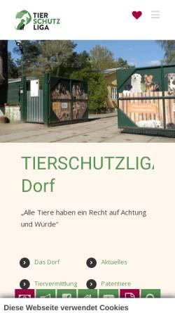 Vorschau der mobilen Webseite tierschutzliga.de, Tierschutzliga in Deutschland e.V.