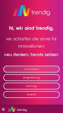 Vorschau der mobilen Webseite trendig.com, Díaz & Hilterscheid Unternehmensberatung GmbH