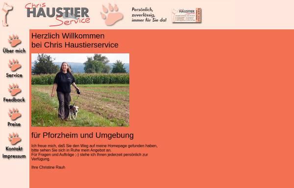 Vorschau von www.chris-haustierservice.de, Chris Haustierservice