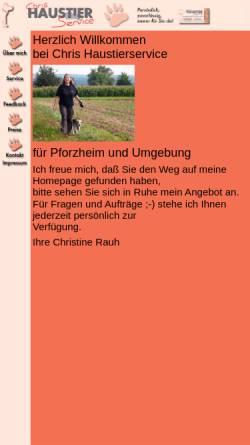 Vorschau der mobilen Webseite www.chris-haustierservice.de, Chris Haustierservice