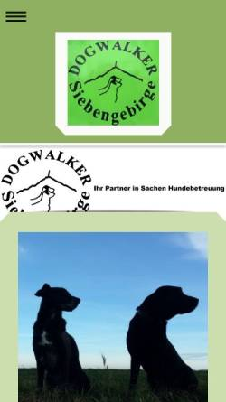 Vorschau der mobilen Webseite dogwalker-siebengebirge.de, Dogwalker-Siebengebirge