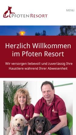 Vorschau der mobilen Webseite tierpension-biberach.de, Mobile Haustierbetreuung German Kühlenthal
