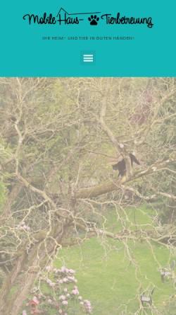 Vorschau der mobilen Webseite www.heimundtier.de, Nadines Heim- und Tierbetreuung