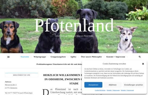 Vorschau von www.pfotenland.de, Pfotenland