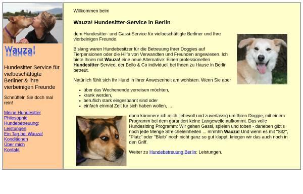 Vorschau von www.wauza.de, Wauza Hundebetreuung Berlin