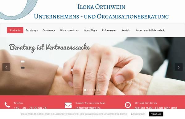 Vorschau von www.orthwein-beratung.de, Ilona Orthwein Unternehmens- und Organisationsberatung