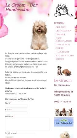 Vorschau der mobilen Webseite www.hundesalon-straubing.de, Hundesalon Straubing