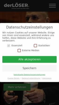 Vorschau der mobilen Webseite www.loeser-consulting.com, Jens Löser