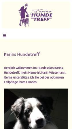 Vorschau der mobilen Webseite www.karins-hundetreff.de, Karins Hundetreff