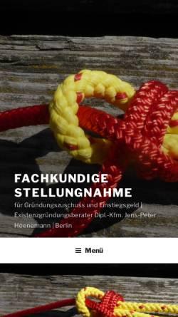 Vorschau der mobilen Webseite existenzgruendungsberater.de, Jens-Peter Heenemann