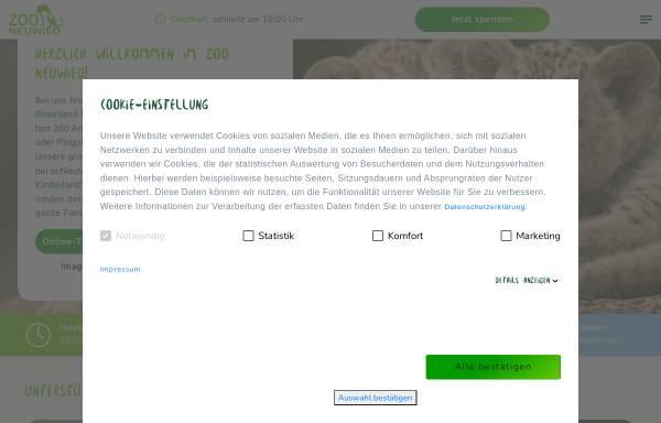 Vorschau von www.zooneuwied.de, Zoo Neuwied