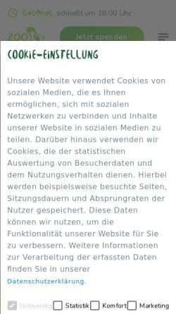 Vorschau der mobilen Webseite www.zooneuwied.de, Zoo Neuwied
