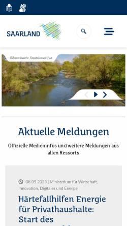 Vorschau der mobilen Webseite www.saarland.de, Die Landesregierung