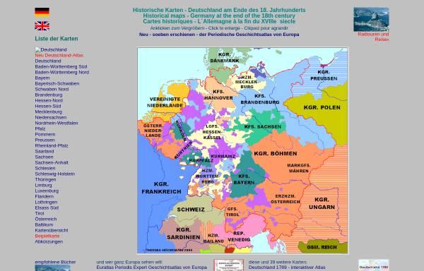 Vorschau von www.hoeckmann.de, Historische Karten - Deutschland am Ende des 18. Jahrhunderts